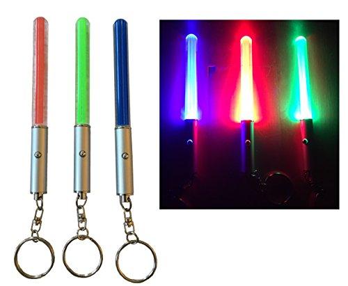3er Set Lichtschwerter Grün Blau Rot Laserschwert Lichtschwert Schlüsselanhänger Lichtschwert Laser Schwert Anhänger Lampe Schlüsselanhängerlicht lustiger Schlüsselanhänger