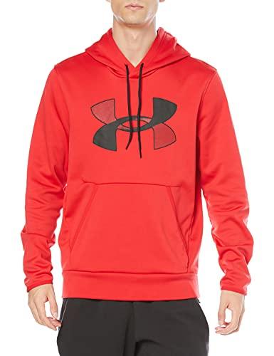 Under Armour Herren Armour Fleece Big Logo Hoodie, Herren, Kapuzenpullover, Armour Fleece Big Logo Hoodie, Rot (600)/Schwarz, Medium