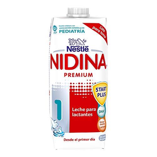 NESTLÉ NIDINA 1 - Leche para lactantes líquida - Fórmula Para bebés - Desde el primer día - 500ml
