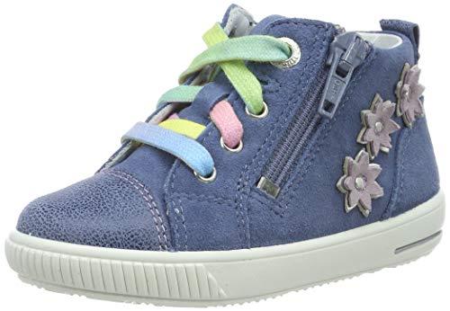Superfit Baby Mädchen Moppy Sneaker, Blau (Blau 80), 22 EU