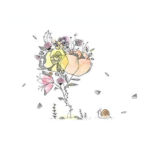 Schneckenblume Ölfeste Küchenaufkleber Antifouling Küche Home Decoration Wallpaper Selbstklebende Fliesen Wandaufkleber