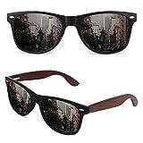 GQUEEN Gafas de sol Hombre Polarizadas,Gafas de sol Mujer Madera Rectangulares Retro Clásico UV400...