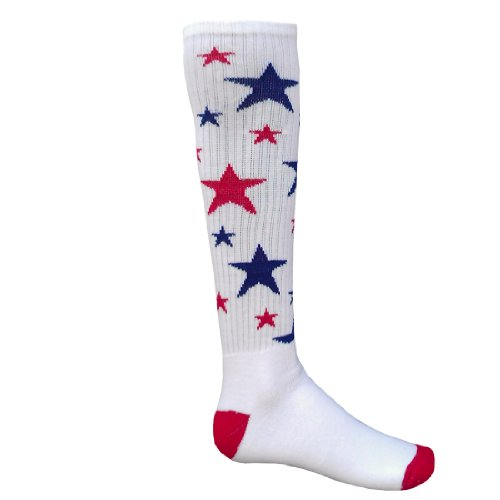 Red Lion Celebrity Knee High Sock (White/Red/Royal Blue - Small)