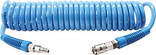 BGS 66541 | Druckluft-Spiralschlauch | 6 m | 10 bar | Innendurchmesser 8 mm | aus Polyurethan