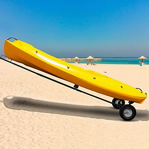 VEVOR Remolque para Barcos 360 lbs Carro de Varada para Barcos 295 x 108 x 47 cm Longitud Ajustable 230-255-280 cm Carro de Barco con Remolque para Mover Motores Embarcación Barco de Pesca o de Vela
