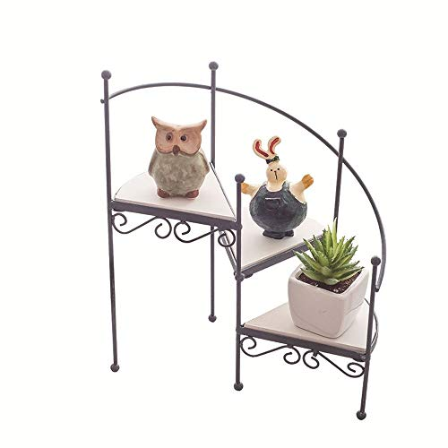 QPLKKMOI Planters Multi Tiered Decor, Spiral Staircase Flower Stand, Home Fleshy Small Potted Ornaments