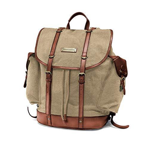 DRAKENSBERG Backpack - Bergsteiger und Wander-Rucksack im Retro-Vintage-Design mit 13'...