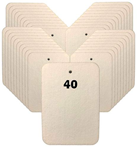 Sublimation Air Freshener Blanks for Cars or Homes. 40-Pack of 100% Pressed Felt Polyester Laser Cut Blanks for DIY Heat Press, Ink Sublimation, HTV, Markers, Kid Crafts, Stenciling. Strings Included.