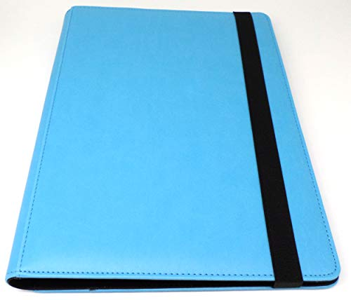 docsmagic.de Pro-Player Premium 9/18-Pocket Album Light Blue - 360 Card Binder - MTG - PKM - YGO - Álbum para Tarjetas Azul Claro