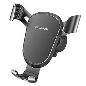 steanum Soporte Móvil para Coche, Gravedad Auto Clamp Teléfono Soporte para Coche Ventilación del Coche Compatible para iPhone 11/11Pro/XS/XS Max/XR/X/8/8+, Compatible con Galaxy S10/S9/S8/S7/S6