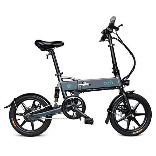 FIIDO D2S - Bicicleta eléctrica plegable de 16 pulgadas, bicicleta eléctrica recargable, plegable, velocidad máxima de 25 km/h, unisex, en 3 – 7 días (gris)