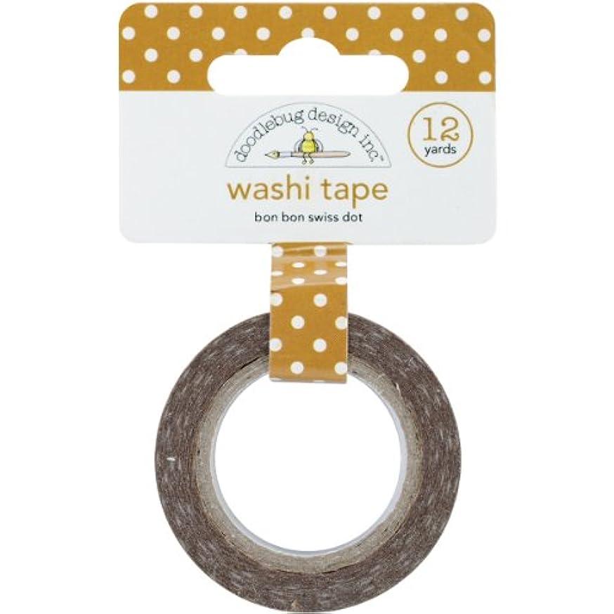 DOODLEBUG Washi Tape, 15mm by 12-Yard, Bon Bon Swiss Dot