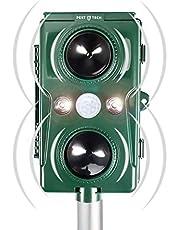 Pest Tech™ | Super Sonic Flash Repeller Kattenverjager | Wordt opgeladen via zonnepaneel | Extra Bereik | Reikwijdte 120° |