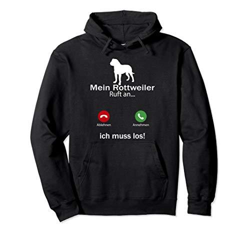 Aufruf an Haustierliebhaber Rottweiler Hund Lustiges Pullover Hoodie