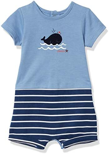 absorba Baby Boys Short Sleeves Romper Navy Slate 0 3 Months product image
