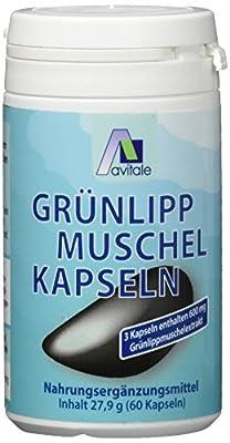 Avitale Grünlipp Muschel Vegi Kapseln, 60 Stück, 1er Pack (1 x 28 g)