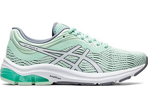 ASICS Zapatillas de running Gel-Pulse 11 para mujer, gris (tinte menta/blanco), 36