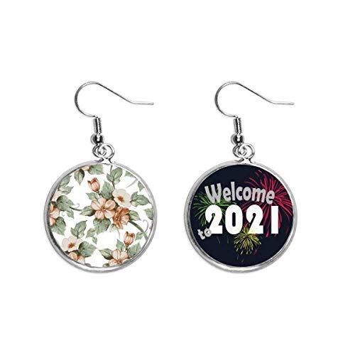 Elegante Ratán Flores Decorativas Oído Pendientes Joyería 2021 Bendición