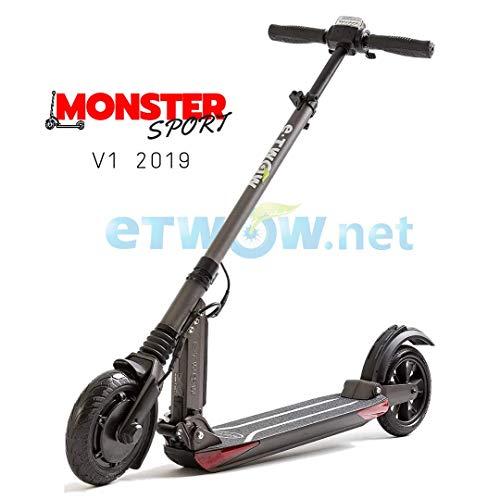 E-Twow Booster V Patinete electrico, Adultos Unisex, Negro, Talla Unica