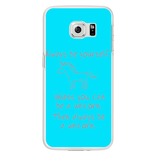 seawood Cute Unicorn impresión teléfono funda protectora para iphone 6Samsung Galaxy S6, plástico, 4, for Samsung Galaxy S5