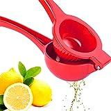 Premium Quality Metal Lemon Squeezer, Lime Juice Press, Manual Press Citrus Juicer For Squeeze The Freshest Juice - (Red)