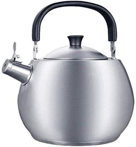 Teteras para fogón Espesar Gas Tetera de acero inoxidable 304 Fogón de gas automática general del silbido de la tetera 4.5L