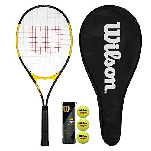 Wilson Nitro Excel 112 - Raqueta de tenis con funda y 3 pelotas de tenis