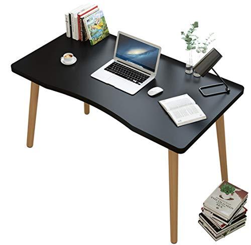 Tisch Holz Schreibtisch Bürotisch Massiv Holztisch Arbeitstisch Kratzfest Wasserdicht Tischplatte Kinderschreibtisch Schminktisch Rutschfest Gamingtisch Ergonomisch Computertisch für Büro Home