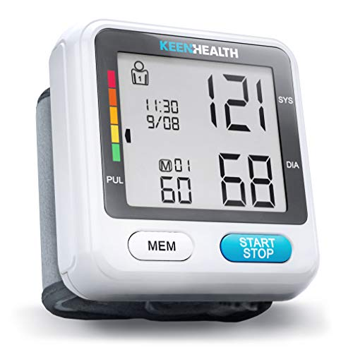 [New 2020Technology] Keenhealth Blood Pressure Wrist Cuff- Memory for 180 Readings - Wrist Blood Pressure Cuff - Batteries Included - High Blood Pressure Monitor - K-BP-568 Blood Monitors Pressure