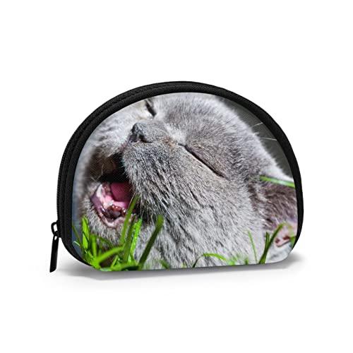 Cat On Grass Kittens Shell Cosmetic Make Up Storage Bag Outdoor Comprar Monedas Organizador De la Billetera Estuche de Viaje para Lavado