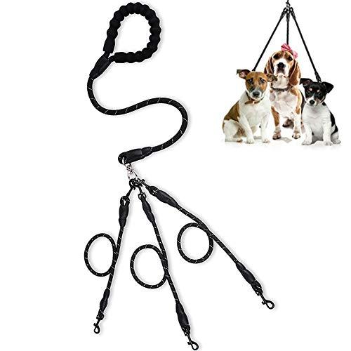 Dubbele Hond Lood 3 Hond Leads Hond Slip Lead Touw Hond Lood Hond Lead Splitter Training Lead Voor Honden Hondenriem Voor Kleine Honden black