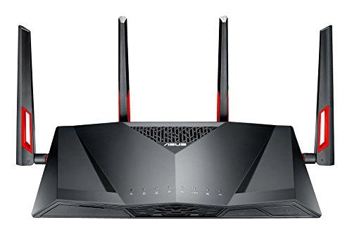ASUS DSL-AC88U AC3100 Wi-Fi Gigabit Modem Router, Upto 18x Speed than VDSL2, USB 3.0 for LTE 3G Connection, Media Server for (BT Infinity, YouView, TalkTalk, EE and Plusnet Fibre) - Black