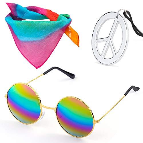 Beelittle Hippie Costume Set - Gafas Estilo círculo de los