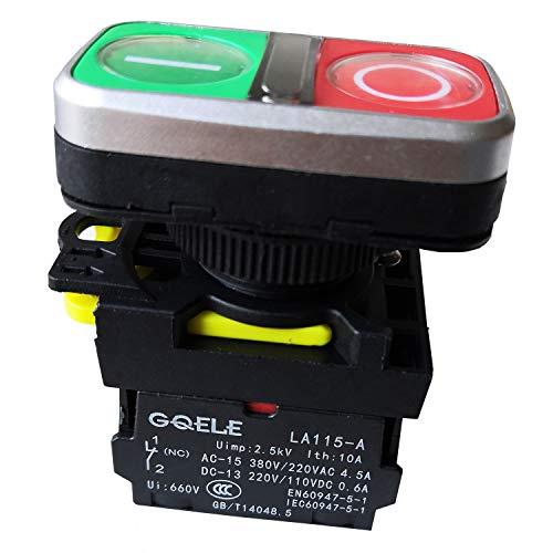 LA115-A5-11RD1 Wasserdicht 1NO LB 1NC 220V M22 Momentan Beleuchtet Flush-Taste Drucktastenschalter für Pumpenschaltschrank Textilverarbeitungsmaschinen