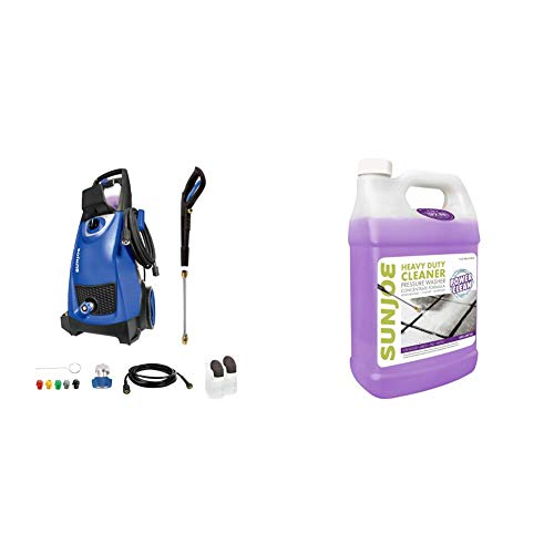 Sun Joe SPX3000-SJB 2030 Max Psi 1.76 Gpm 14.5-Amp Electric Pressure Washer, Blue & SPX-APC1G All-Purpose Heavy Duty Pressure Washer Rated Cleaner + Degreaser, 1-Gallon