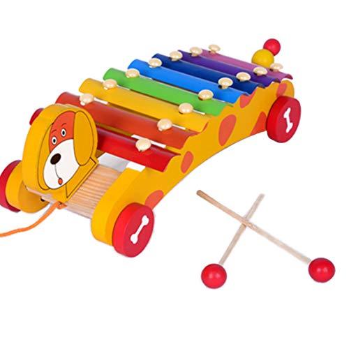 FISHSHOP Xilofono di Legno Giocattoli Musicali per Bambini,Percussioni per Bambini,Educativo Giochi Musicali per Bambino delle Ragazze dei Ragazzi