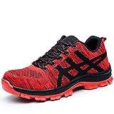 Djpcvb Zapatos de Seguridad Zapatos de Trabajo Ligeros Puntera de Acero Anti-rompiendo Zapatos de Seguridad, Zapatos, Zapatos Deportivos de construcción Industrial (Size : 38)