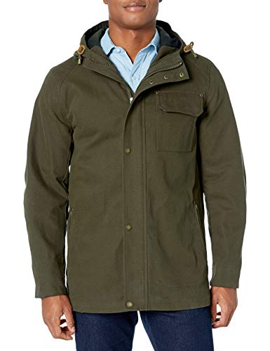 Pendleton Outerwear Men's Cascade Big Sky Canvas W/DWR Finish Hooded Jacket, Olive, M