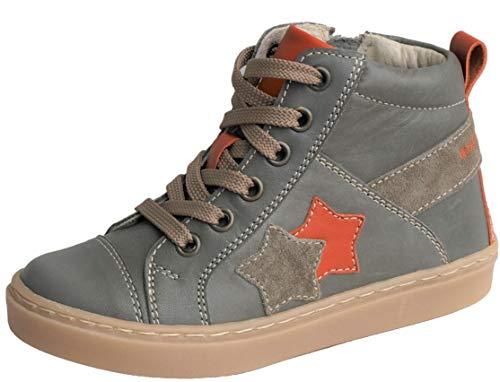 ennellemoo® Jungen-Mädchen-Unisex-Kinder-echt Leder-Schuhe-Boots-Sneaker-Reißverschluss-Schnürsenkel.Premiumschuhe.Vollleder
