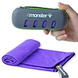 4Monster Microfiber Towel, Travel Towel, Camping Towel,Small Size 15.7¡Á31.5'', Fast Drying, Soft Light Weight,Suitable for Gym, Beach, Swimming, Backpacking and More