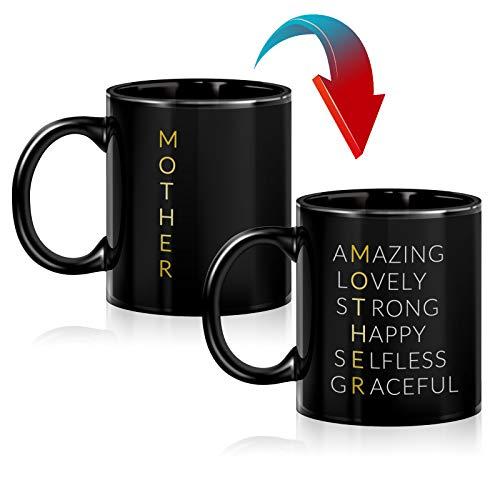Mom Birthday Gifts - Heat Changing Mug, Mom Mug Gift from Daughter, Son, Kids, Funny Coffee Mug for...