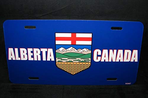 Alberta Flag Car License Plate Plaque De Licence Du Drapeau D'Alberta Auto Car Novelty Accessories License Plate Art