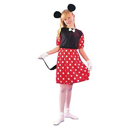 Fyasa Disfraz de Minnie Mouse, vestido de carnaval para nia (Talla 7/9 aos)