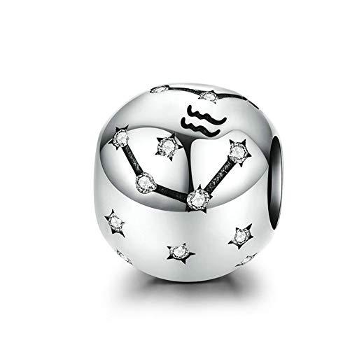EMEMcharm Unisex plata de ley 925 plata Cubic Zirconia