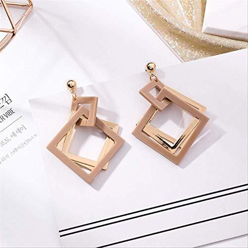 Oorspelden Geometrisch Acryl Dangle Oorbellen Hol Geometrisch Vierkant Acryl Oorbellen Sieraden Dames AccessoiresKoffie