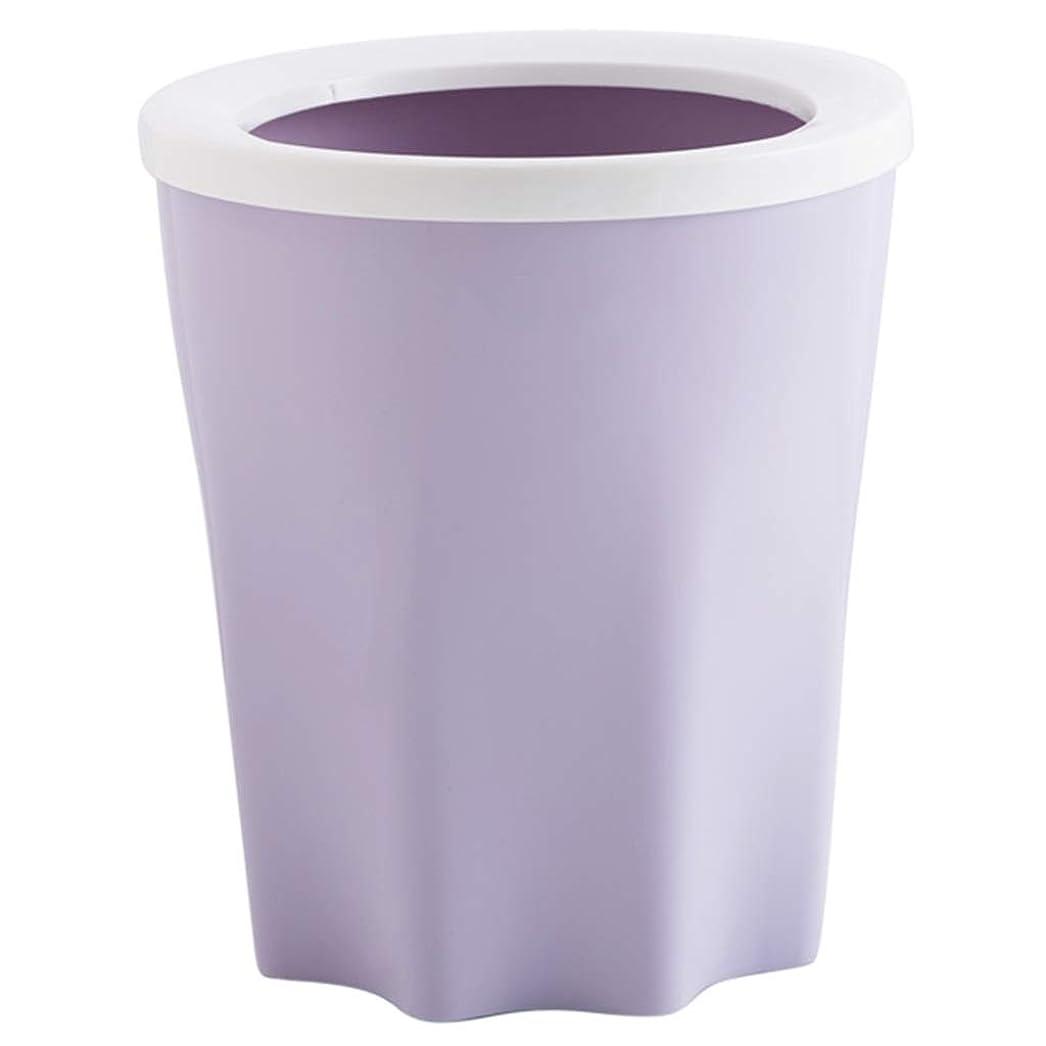 ベーカリー雪の酔ったゴミ箱プラスチックゴミ箱、環境にやさしいPP素材圧力リングデザインシンプルでスタイリッシュな、キッチンリビングルームのバスルーム Hyococ (Color : Purple)