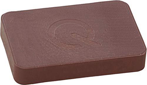 greenteQ Premium Unterlegplatten - Abstandshalter, Plättchen aus Kunststoff | hohe Tragkraft | 25 Stück 60x40x10mm Braun