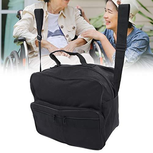 Bolsa para silla de ruedas, organizador de bolsa de almacenamiento para silla de ruedas de gran capacidad, andador, cualquier tipo de bicicleta con ruedas para sillas de ruedas, scooters