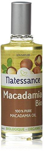 NATESSANCE L'Huile de Macadamia est 100% Pur/Biologique 50 ml - Lot de 2