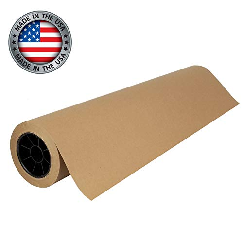 """Brown Kraft Paper Roll   30"""" x 200' (2400"""")   Best Paper for Gift Wrapping, Art & Crafts, Bulletin Boards, Packing, Table Runner, and Floor Covering   Made in USA"""